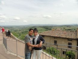 Herman and I , Patty, overlooking the vineyards in San Giacomo, Italy , Patricia P - May 2014