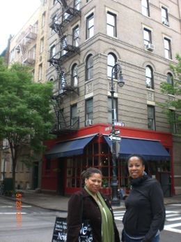 My BFF and I in front of The Friends Apt. Wasn't it a taller buiding on TV? , DJ - June 2011