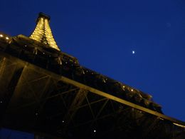 Photo of Paris Eiffel Tower, Paris Moulin Rouge Show and Seine River Cruise The moon and the Eiffel Tower