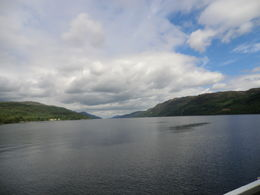 Loch Ness . Picture taken from a boat. ( this 1 hr. cruise can be booked on the bus ) , Patricia N - July 2012