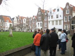 This is Begijnhof in Amsterdam. We saw a Dutch courtyard and the beautiful gables! - March 2008