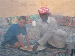 Photo of Sharm el Sheikh Camel Safari with Optional Bedouin Dinner Baking Bread