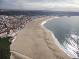 Photo of   Beach at Nazare from the cliffs