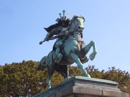 Statue across from Imperial Palace....that's me as Samarai in former life. , Warren C - November 2011