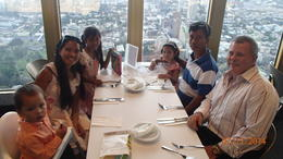 Photo of Sydney Sydney Tower Restaurant Buffet Family dinner time enjoying the view as my father in law visits us