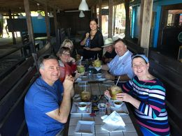Our group with YA..coconut water and rum, and the food was to die for!! , Laurice O - February 2016
