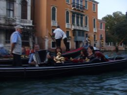A group of 5 Gondola's with an Accordian player and Singer - September 2009