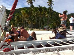 A quick sail by of Maragot bay, on the way back home. , Ryan P - September 2012