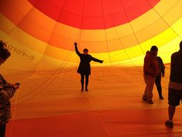Photo of Las Vegas Las Vegas Sunrise Hot Air Balloon Ride Inside the canopy