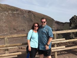 John and Kathy W. at the top of Mt Vesuvius , Katherine W - May 2015