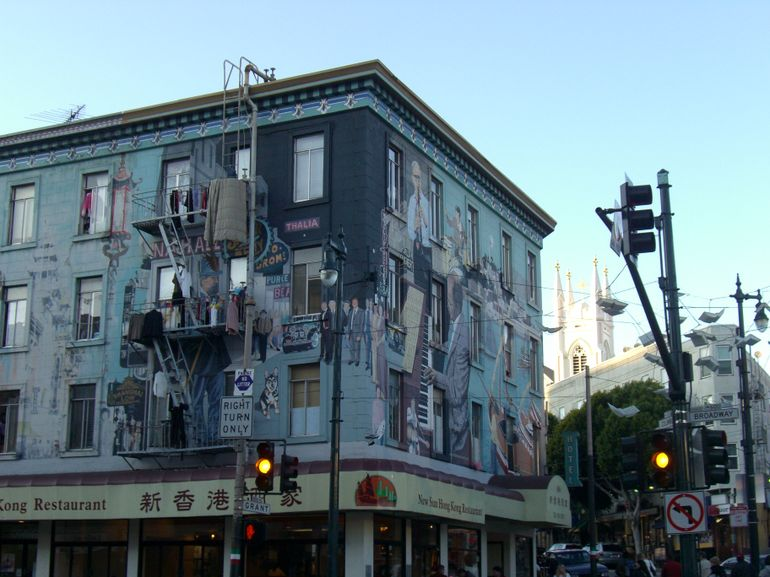 Mural and public art installation, San Francisco's North Beach - San Francisco