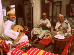 Photo of Costa del Sol Tangier, Morocco Day Trip from Costa del Sol Musicians at Moroccan Restaurant