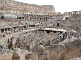 This is a picture from inside the Colosseum - we learned so much about the history of this amazing structure. , Kristin L - May 2014