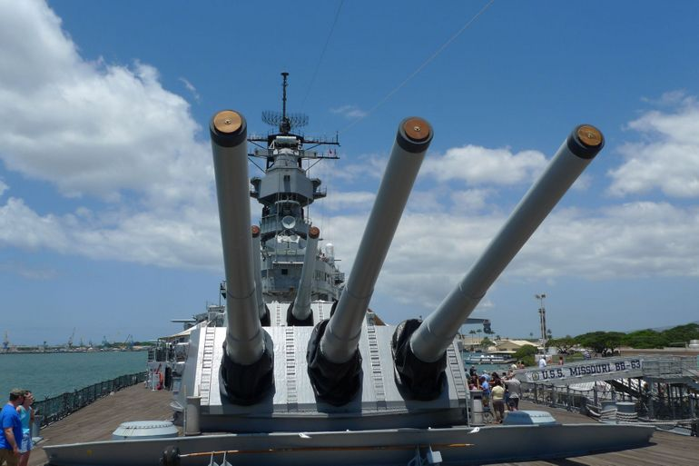 The U.S.S. Missouri - Oahu