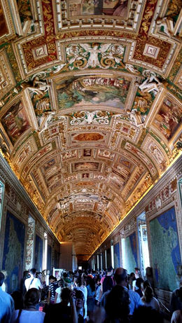 An example of the glorious ceilings in the Vatican Museum , ilenemac - September 2014