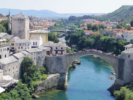 Photo of   Beautiful view from a tower in Mostar