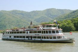 Our boat, Prinz Eugen, on the Danube River from Spitz to Melk, Hendrik H - May 2009