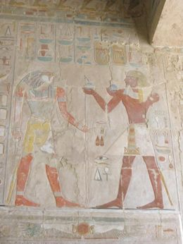 Photo of Luxor Private Tour: Luxor West Bank, Valley of the Kings and Hatshepsut Temple Drawings in Hatshepsut temple