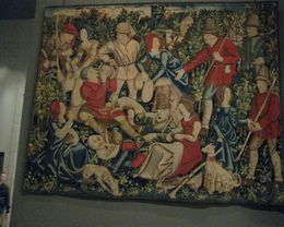 large tapestry, note the relative size of the person in the bottom left, Albert R - November 2009