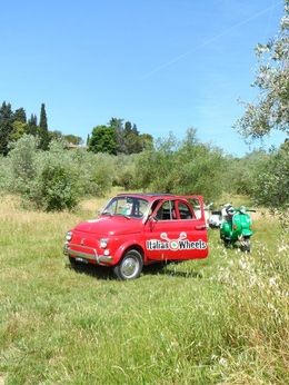 Photo of Florence Florence Vespa Tour: Tuscan Hills and Italian Cuisine Our vespar  and  guide car in the Florence Countryside