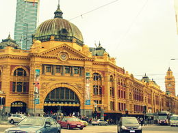 Photo of   Outside the Flinders Street Station