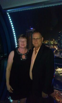 Gavin and Amanda on the Singapore Flyer for dinner October 2013 , Gavin R - October 2013