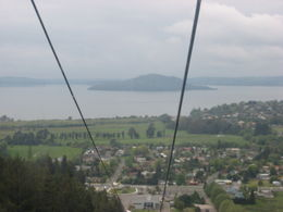View of Lake Rotorua from the gondola., Bandit - November 2011