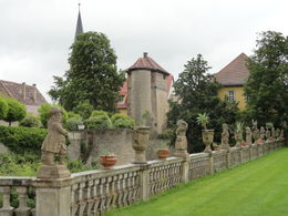 A 15 minute photo op stop at Stadt Weikersheim. Beautiful grounds! , Judy & Mike - July 2012