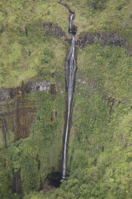 picture of a 400 foot water fall only accessible from the air. , Albert B - November 2014
