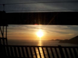 Sunset as seen when passing from the Golden Gate bridge , Varun P - March 2013