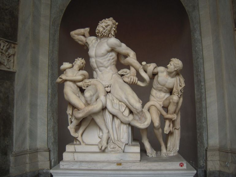Art in Vatican: Laocoon sculpture - Rome
