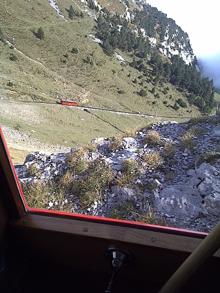 Coming down on world's steepest cogwheel railway - Zurich
