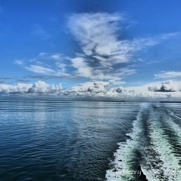Awesome sky while aboard Ferry to Victoria , Henry C - July 2014