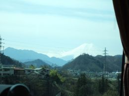 Fuji from Coach Window, Shoo R - April 2009