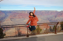Photo of Las Vegas Grand Canyon South Rim Bus Tour with Optional Upgrades jump high