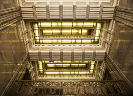 Photo of Chicago Chicago Walking Tour: Art Deco Architecture looking up in the carbide building