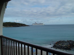 Photo of   Passenger Cruise Ship leaving St. Maarten