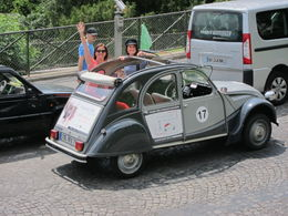 Me with our 2CV tour guide near the end of our fun tour, Barrie S - September 2011