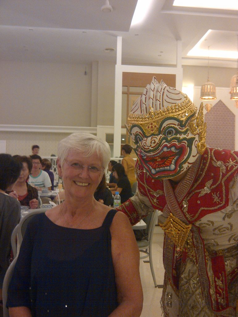 Sylvia with Baddie from Pre dinner show - Bangkok