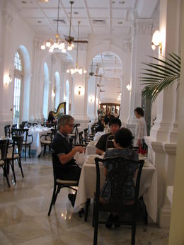 Photo of Singapore Raffles Hotel Singapore Half-Day Tour Taking Tiffin at Raffles, photo shot from our private dining area, delightf