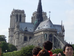 The Cathedral of Notre Dame while on the river cruise of the Seine. , James B - June 2014