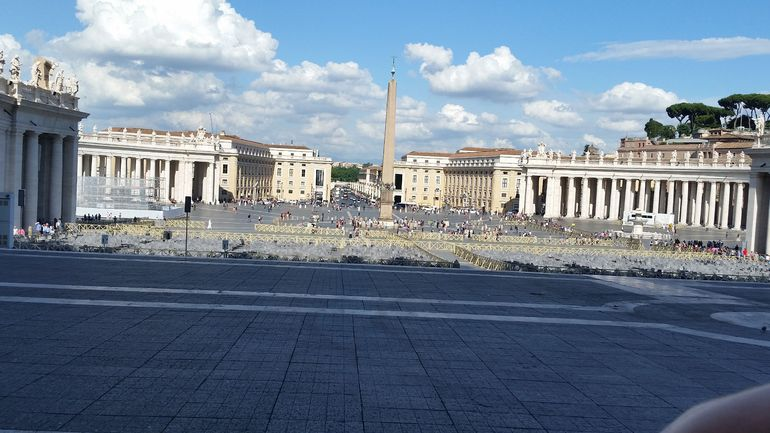 The piaza at the Vatican - Rome