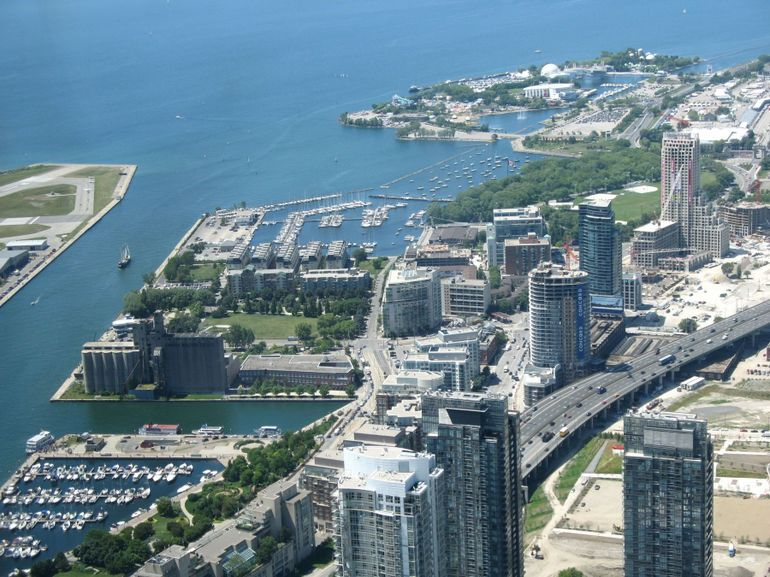 Toronto Harbour - view from CN Tower - Toronto