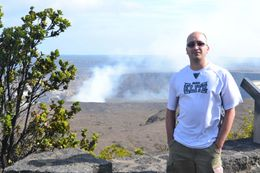 Photo of Oahu Big Island Day Trip: Volcanoes National Park from Oahu Volcano in background, Big Island of Hawaii