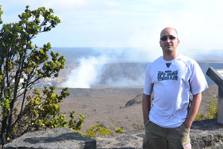 Volcano in background, Big Island of Hawaii - Oahu