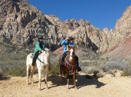 Both me and wife on our horses , Stephen B - April 2013