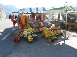 Our driver stopped at this stand, and we purchased garlic braids, peppers, and other goodies , Santa F - October 2013