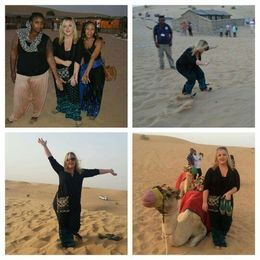 Henna, sand boarding, Dune bashing and camel riding , HAH82 - December 2015