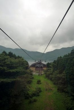 Another view from the Hakone Ropeways, on route to Owakudani, Hwee Khim C - August 2009