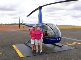 Photo of Ayers Rock Uluru and Kata Tjuta Tour by Helicopter from Ayers Rock Before takeoff